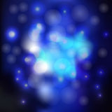 Blurred blue background with glare and bubbles. vector illustration. Blurred blue background with glare and bubbles. vector illustration Stock Photos