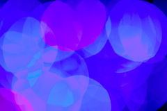 Blurred blue color lights background Royalty Free Stock Photography
