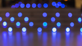 ฺBlurred blue color lights with bokeh effect Royalty Free Stock Photo