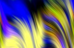 Blurred blue gold colorful waves like shapes, abstract background. Blurred blue yellow colorful pastel waves like shapes and forms, abstract background and Royalty Free Stock Photos