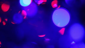 Blurred blue lights. Defocused lights with bokeh, blurred motion abstract background stock video footage