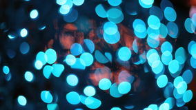 Blurred blue lights Royalty Free Stock Photo