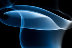 Blurred blue vorticity of smoke Royalty Free Stock Images