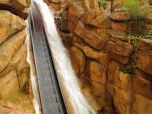 Log flume ride drop blur Royalty Free Stock Image