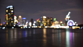 Blurred bokeh abstract background of Bangkok cityscape Royalty Free Stock Photos