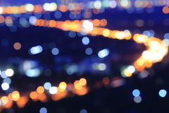Blurred bokeh. Abstract background with bokeh defocused lights and shadow Royalty Free Stock Image