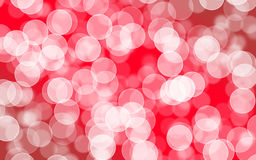 Blurred bokeh with abstract red background layout design, web te Royalty Free Stock Images