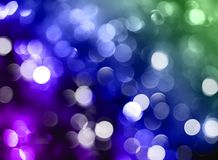 Blurred bokeh background, blue, green, lilac, sparkle, glitter,. Background  light  Abstract  bright  shiny  design  stain  bokeh  decoration  holiday  glitter Royalty Free Stock Photo
