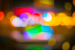 Blurred bokeh background with warm orange lights (blurred) Stock Image