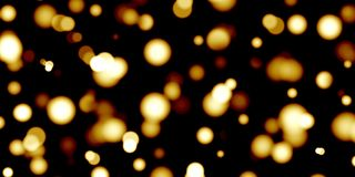 Blurred bokeh background ,yellow circles on black,gold,defocused,holiday,lights,party,night,bright royalty free illustration