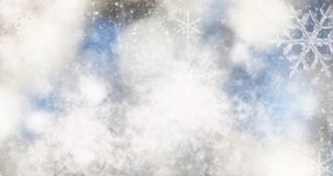 Blurred bokeh background of christmas  lights and snowflakes. Blurred bokeh backgroundof christmas  lights and snowflakes Royalty Free Stock Image