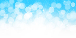 Blurred bokeh christmas background Stock Images