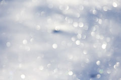 Blurred bokeh christmas background with snowflakes Royalty Free Stock Photography