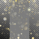 Blurred bokeh of Christmas lights. EPS 10 vector. Blurred bokeh of Christmas lights. Magic holiday abstract glitter isolated on transparent background. And also Stock Image