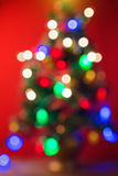 Blurred bokeh Christmas tree background Stock Photography