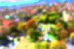 Blurred bokeh city buildings background. S Royalty Free Stock Photo