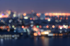 Blurred bokeh city lights background Royalty Free Stock Photography