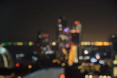 Blurred bokeh city lights Royalty Free Stock Photo