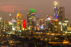 Blurred bokeh city. Skyline lights night view Royalty Free Stock Photography