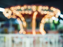 Blurred Bokeh light in Theme park Royalty Free Stock Photo
