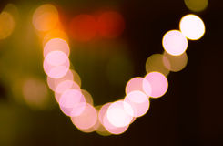 Blurred bokeh lights background in vibrant colors Stock Image