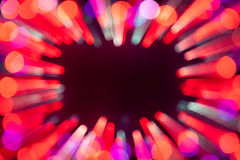 Blurred bokeh lights frame Stock Photography
