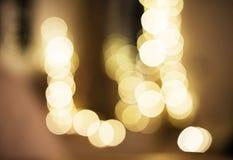 Blurred bokeh lights night time wallpaper Stock Images