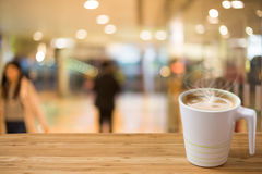 Blurred bokeh shopping mall background Royalty Free Stock Photography