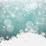 Blurred Bokeh Winter Background with Paper Snowflakes Stock Photography