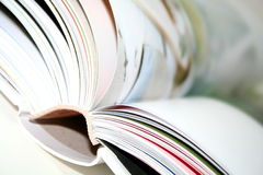 Blurred book. Close up of a book stock images