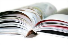 Blurred book. Close up of a blurred book royalty free stock photo