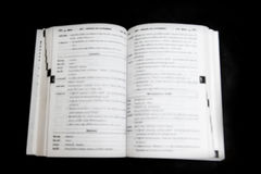 Blurred, Book pages Royalty Free Stock Images