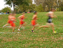 Blurred Boys Cross Country Runners Stock Images