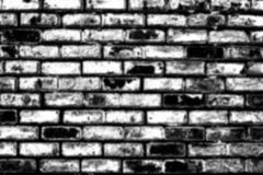 Blurred brick pattern in black and white for your background usage Royalty Free Stock Photos