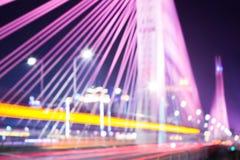 Blurred bridge traffic Royalty Free Stock Images