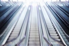 Blurred bright escalator Royalty Free Stock Images