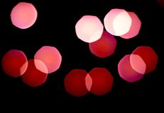 Blurred bright multicolored lights. Close up, copy space. stock illustration