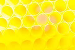 Blurred bright yellow bubbles as background Royalty Free Stock Images