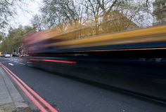 Blurred bus Stock Images