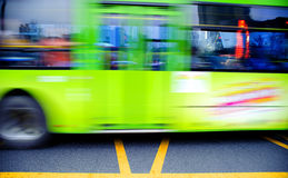 Blurred bus trails Stock Photos