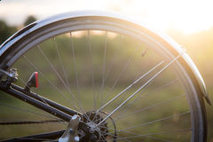 Blurred bycicle. With sun light Royalty Free Stock Images