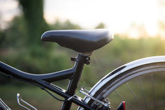 Blurred bycicle. With sun light Stock Images