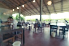 Blurred of cafeteria stock photography
