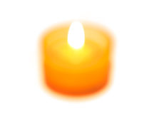 Blurred candle Stock Photos