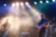 Blurred cantó de fondo de la banda de la etapa Fotografía de archivo