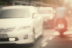 Blurred of car Royalty Free Stock Image