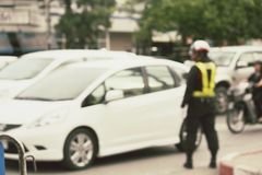 Blurred of car Stock Photo