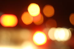 Blurred of car in city at night Royalty Free Stock Photos