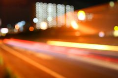 Blurred Car Lights Stock Photos