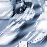Blurred cars Stock Photo